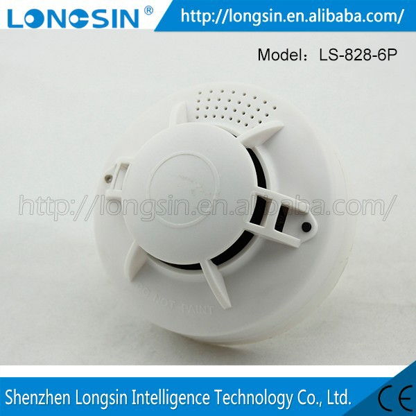 Functional Wireless Vibration And Magnetic Alarm Detector Battery Operated Smoke Detector
