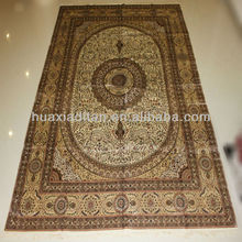 beige and pink silk carpets, handmade silk rugs for sale