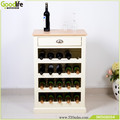 Rubber wood furniture wine rack with 20 bottles capacity and one drawer