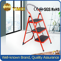 Folding step stool/Foldable Heavy Duty 3 Steel Wide Step Ladder