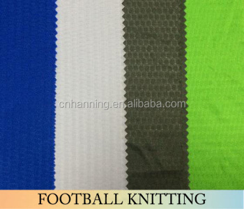 2017 Newstyle 100% polyester knitting fabric, football knitting fabric