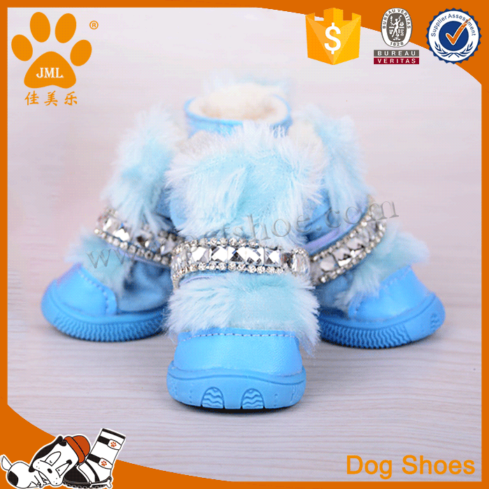 Pet shoes fabric winter rubber dog boots