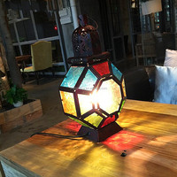 American Village and Bohemian-style Creative and Personality Crystal table lamp