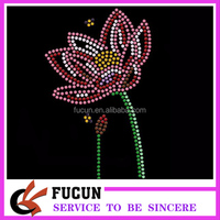 OEM Iron on crystal hot fix rhinestone motif