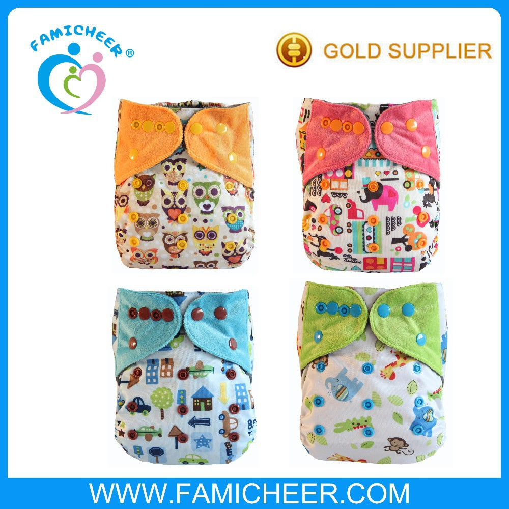 2016 Famicheer New Arrival Print Wholesale Bamboo AIO Modern Cloth Diaper