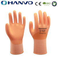 HANVO 15G Micro Foam Nitrile Coated Good Grip Working Gloves