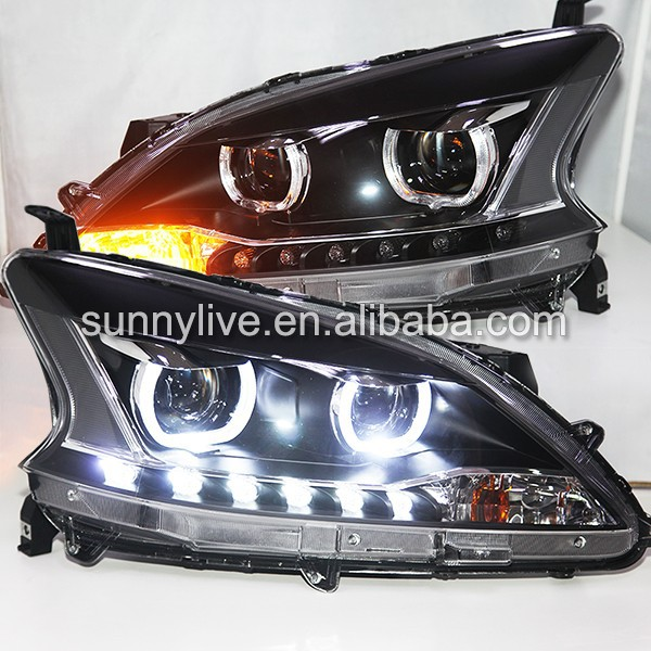 2012--2014 Year Sylphy B17 Sentra LED Head Lights Projector Lens TLZ