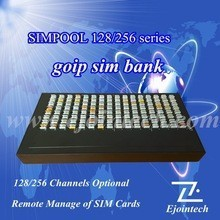 2015 hotsale gsm SIM BOX /bank/SIMPOOL256 remote control 8 ports 64 sim cards gsm gateway