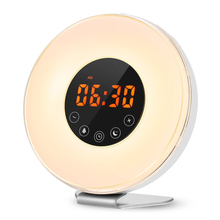7 Color With Nature Sound Led Wake Up Light Children Digital Alarm Clock