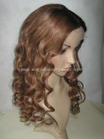 silk top sexy wavy Two tone color glueless cap full lace wigs