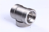 galvanized tee pipe fittings SW straight tee pipe