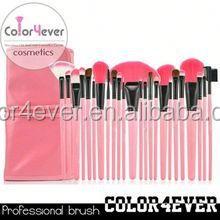 High quality wholesale 24pcs goat hair professional makeup brush set airbrush makeup foundation