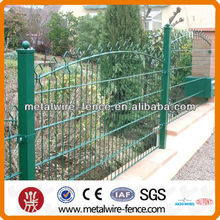PVC roll top fence galvanized top metal fence