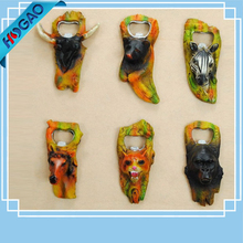 2017 creative animal shaped resin decorative beer bottle opener