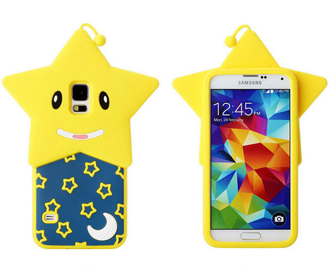 alibaba china supplier mobile phone accessory customized star silicone case for samsung galaxy s4