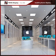 Retail mobile electronics shop interior furniture design decorative cell phone store fixure kiosk halloween style