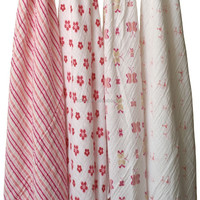 "Muslin Swaddle Blanket Fabric 100 % Cotton 47""x47"" After Washed"