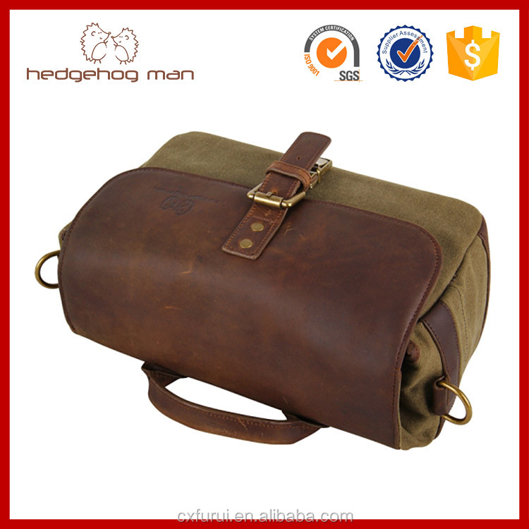 2016 Fashion HEDGEHOG MAN Handmade Genuine vintage leather camera bag