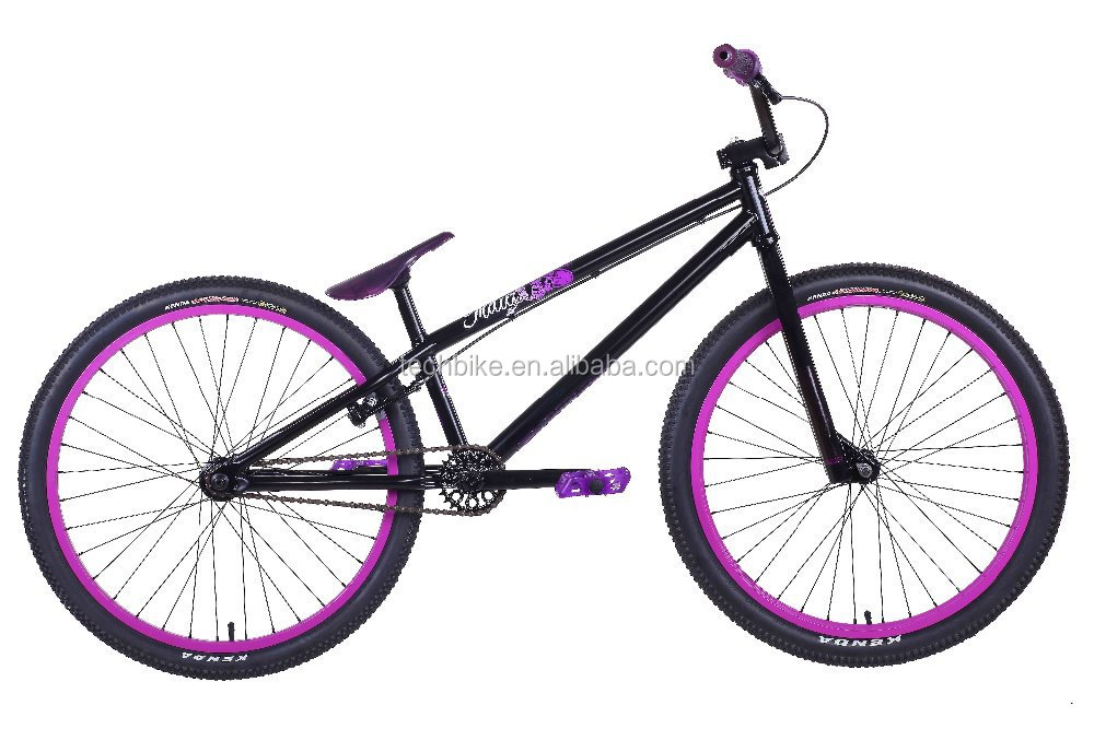 24 inch BMX bike with steel frame for street and park