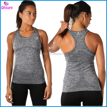 nylon/spandex slim fit moisture wicking yoga vest running singlet womens seamless gym tank top