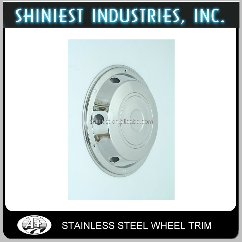 Top selling stainless steel truck and bus wheel trim for front wheel