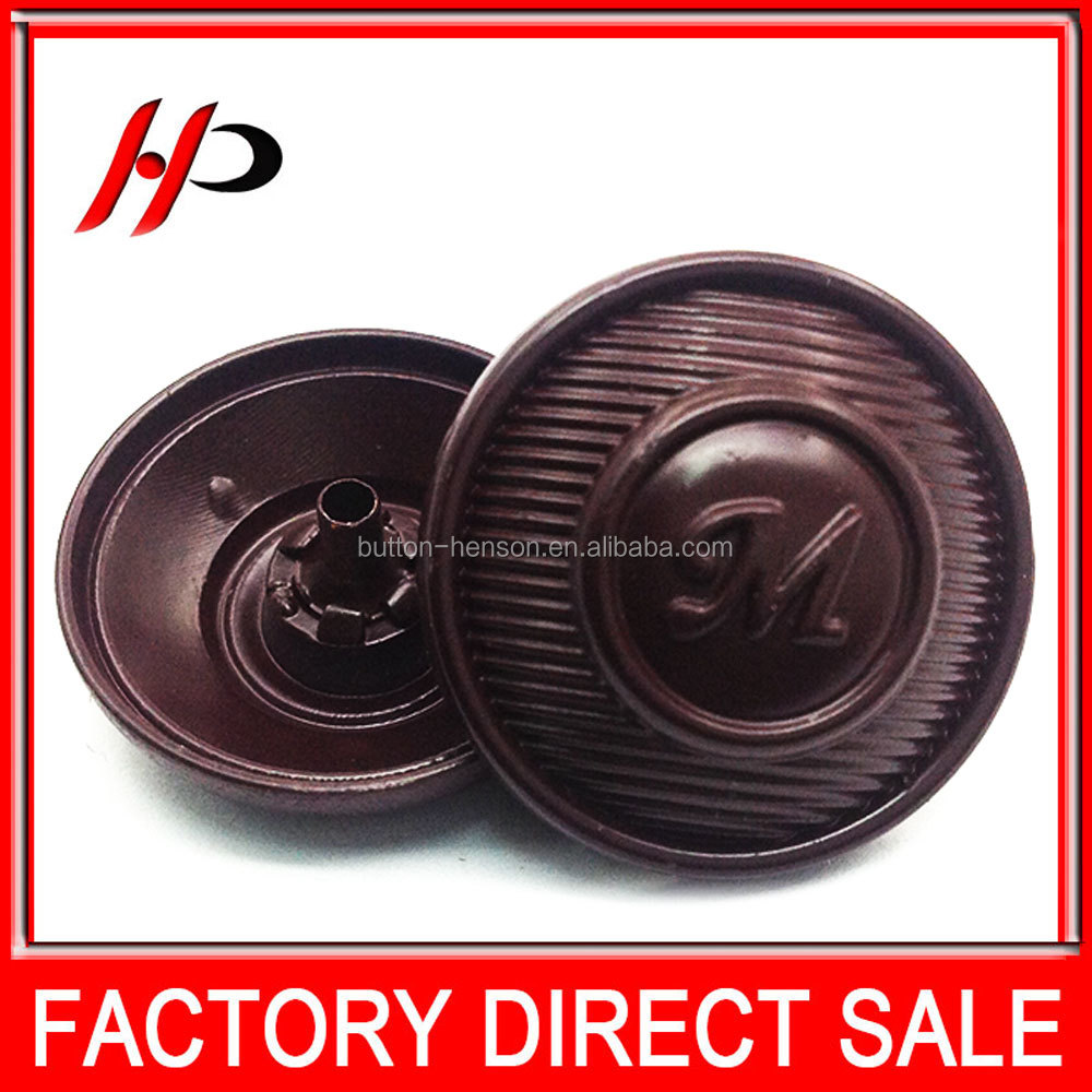 Garment accessories factory custom logo 23mm all types of cloth poker dealer tack metal snap button