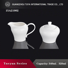 China super white home use milk pot , sugar jug crockery