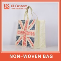 Customized stylish non woven bag fashion handbags prices of gift bag