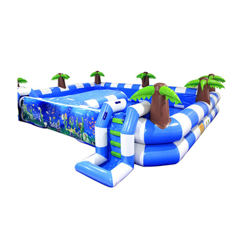 Customized Design Blue Color Swimming Pool Inflatable Water Play High Quality Inflatable Pool for Sale