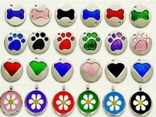 Colorful Metal Pet Dog Tags