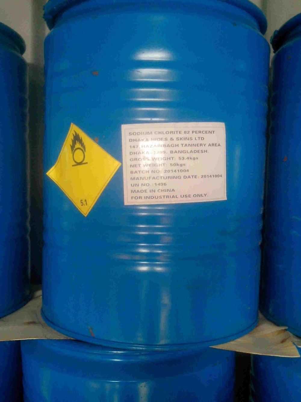 Sodium Chlorite 25% liquid in 2017