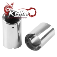 Kylin racing exhaust muffler universal 304 stainless steel motorcycle car exhaust muffler