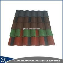 Popular stone coated metal roman roofing tile