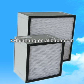 box carbon filter H14 Aluminum Separator woods glass filter HEPA Filter
