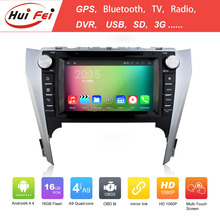 top sale DVD del coche for Toyota Camry 2012 android 4.4.4 OS dvd del coche