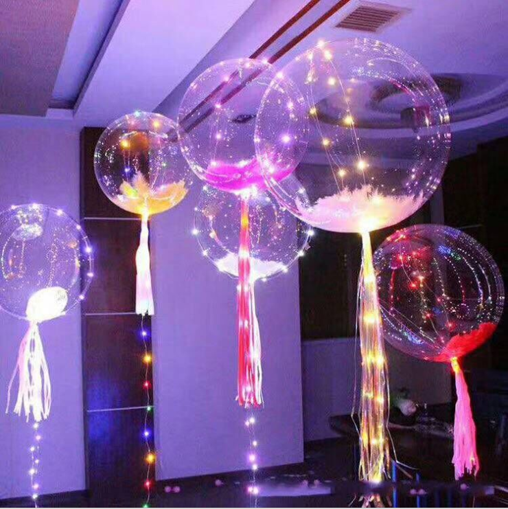 2017 hot Transparent Helium Round Bobo Balloon For Wedding Party Decorations