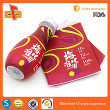 Printing Up To 10 Colors PET Shrink Label Heat Seal Wrap In The Bottle
