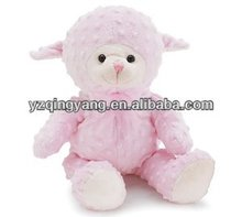 Customs stuffed animals cute and lovely soft plush pink sheep toys for kids' gifts