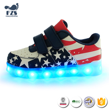 XGY-032-Latest time big sale one pair seven colors led kids shoes