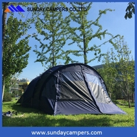 Field hiking portable camping four seasons double layer tent