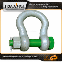 commercial galvanized D shaped shackle