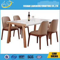 DT014 2015 New design simple dining room furniture was made from E1 MDF board and water oil painting fordining room