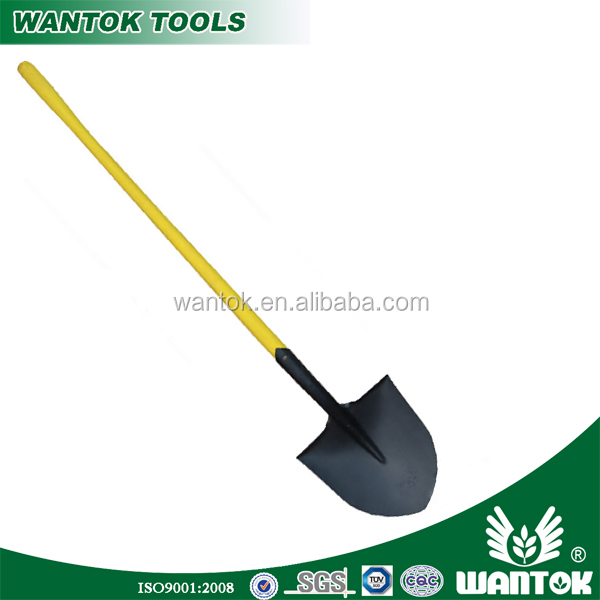 S508NL Round-point Shovel with long plastic handle