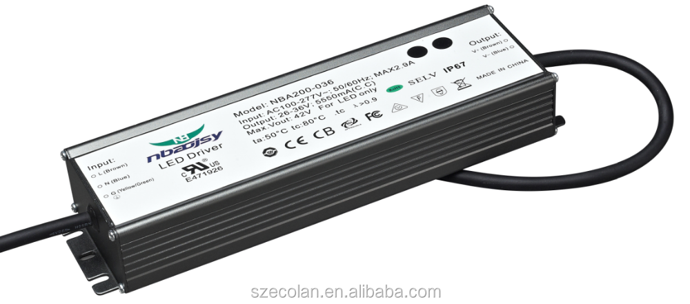 70W Outdoor waterproof constant temperature UL LED DRIVER