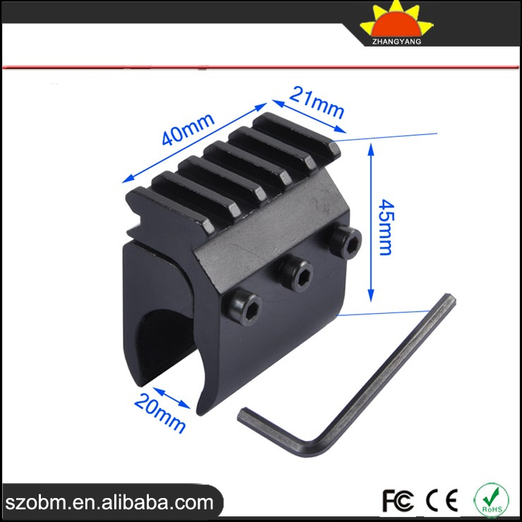 T2012 Aluminum Alloy extend 21mm Rail for 20mm gun pipe clamp with 21mm scope mounts rails