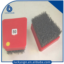 46 Grit Red Abrasive Nylon Frankfurt Brush For Granite