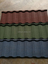 BV quality certificate promotion $4.2 Per SQM metal bond roof tile Stone granule coated steel roof tile