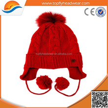 Good quality knitted winter hats ear flaps
