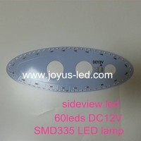 smd s335 led hot rolled steel plate sideview aluminum pcb 12v ellipse