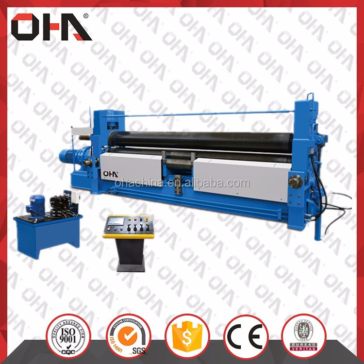 "OHA"" Brand <strong>W11s</strong> 30*3000 high quality <strong>hydraulic</strong> plate <strong>rolling</strong> <strong>machine</strong> with pre-bending function, heavy duty plate <strong>rolling</strong> <strong>machine</strong>"